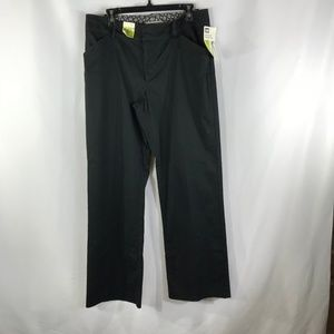 LEE BLACK SIZE 14 STRAIGHT LEG PANTS NWT
